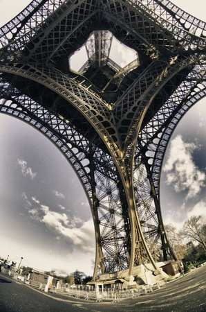 Colors of Sky over Eiffel Tower photo