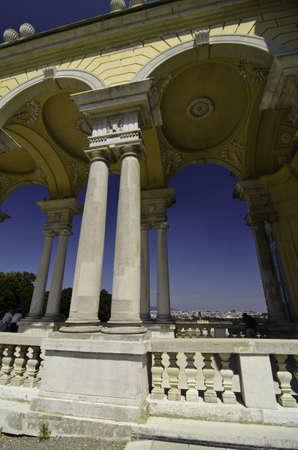 nbrunn: Arches of The Gloriette in Schonbrunn Castle, Vienna