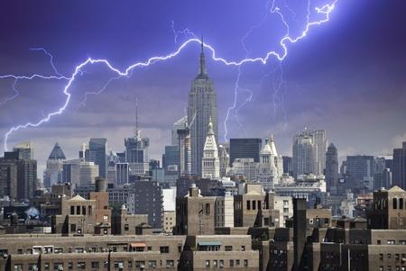 Stormy Sky over New York City, U.S.A. Stock Photo - 12415728