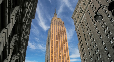 Sunset over Empire State Building, New York City, U.S.A.