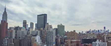 Aerial view of New York City Skyline, U S A