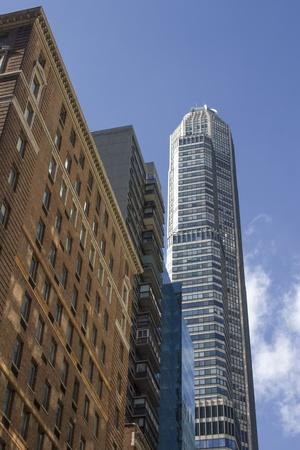 u s a: Upward view of New York City Skyscrapers, U S A