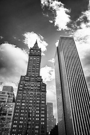 Nahoru pohled na New York City Mrakodrapy, Spojené státy americké