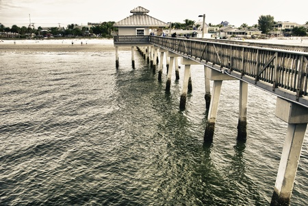 Pier in Fort Myers, U.S.A. Stock Photo - 13153251