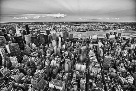 imperium: New York City by Night van het Empire State Building Stockfoto