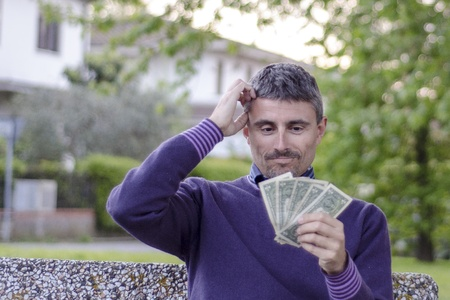 Man worried about his Money photo