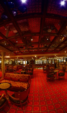 Magnificent interiors on cruise the ship, Caribbean