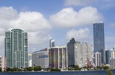 u s a: Cloudy Sky over Miami Skyscrapers, U S A  Stock Photo