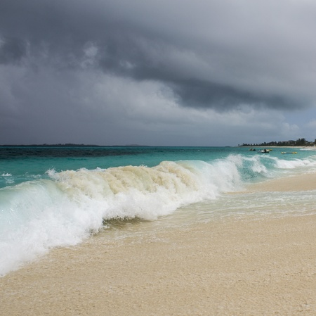 Storm Approaching Nassau Beach, Bahamas Islands photo