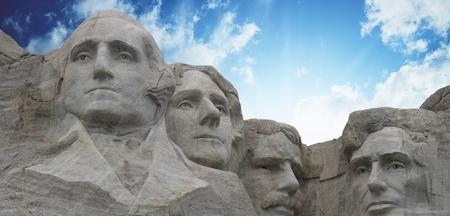 mount jefferson: Sunset Colors over Mount Rushmore in South Dakota, U S A  Editorial