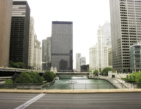Buildings and River of Chicago, Illinois photo