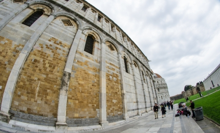 Architectural detail of Miracle Square in Pisa, Italy