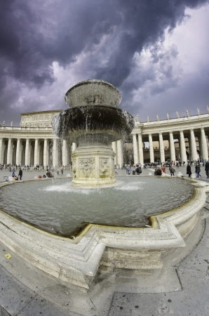 Cloudy Sky over Piazza San Pietro in Rome, Italy