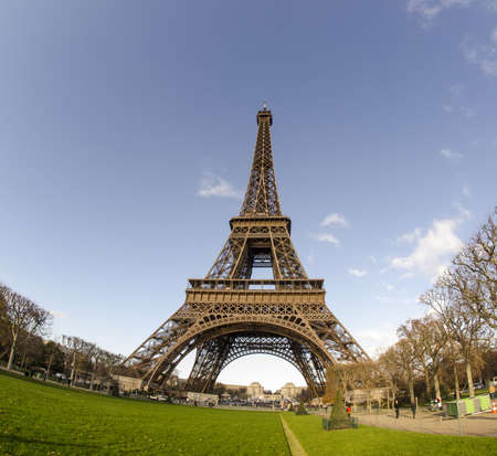 Winter view of Eiffel Tower in Paris, France photo