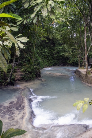 Shallow Waters at the Dunn's River Falls in Jamaica Stock Photo