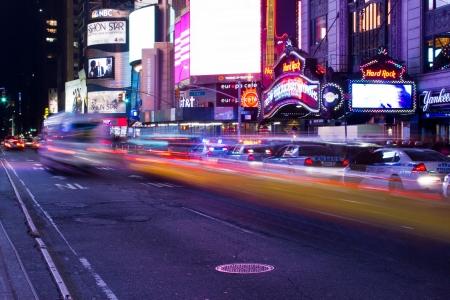 New York City Lights at Night, U.S.A.