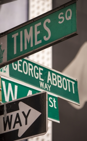 money time: Street Signs dans le Big Apple, New York City