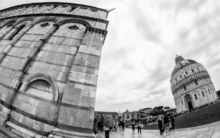 miracle square: Architectural detail of Miracle Square in Pisa, Italy Stock Photo