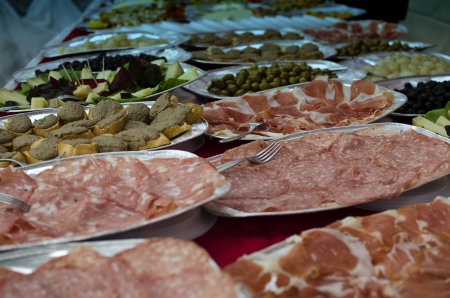 Appetizers Collection at a Party in Italy photo
