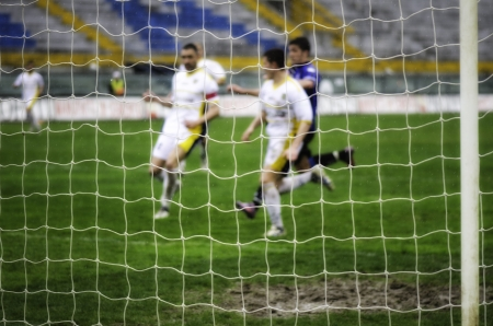 Attacking Phase of a Soccer Match, Italy photo