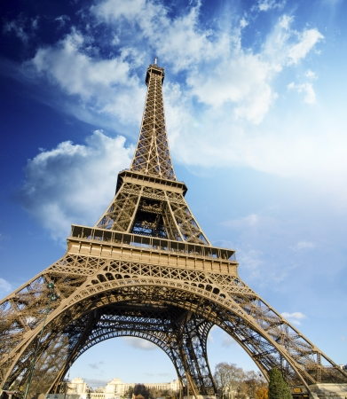 eiffel: Eiffel Tower on a Winter Morning, Paris Stock Photo