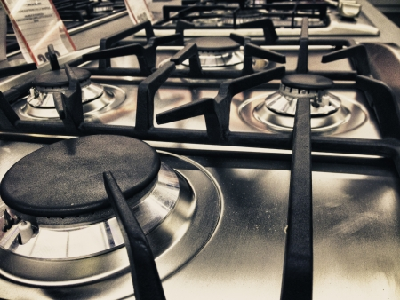 Modern Stove detail in a Italian Kitchen photo