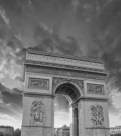 Famous Arc de Triomphe in Paris photo