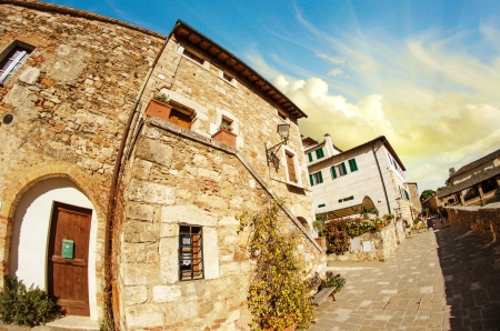 Typical Ancient Homes of a Medieval Town, Italy photo