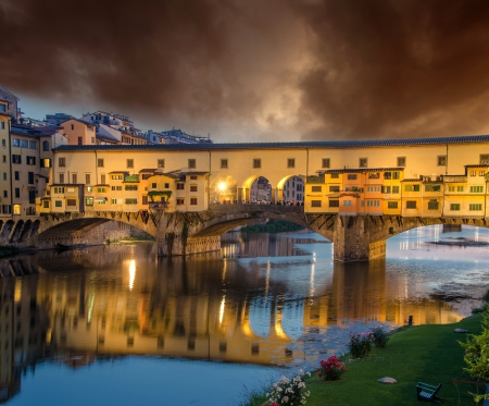 Sunset colors in Florence, Ponte Vecchio photo