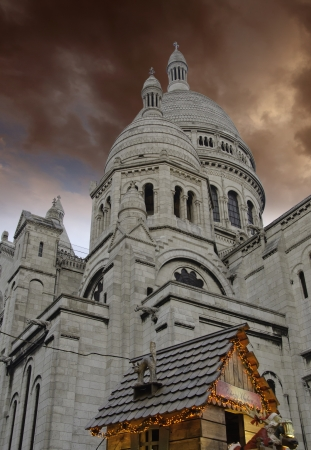 Sky Colors over Sacre Coeur in Paris photo