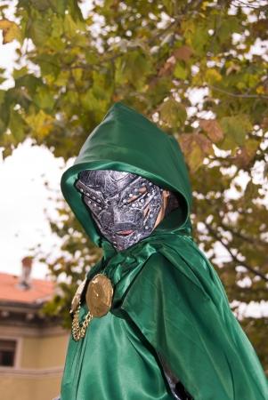Green Armored Warrior, Italian Carnival Stock Photo - 13980844