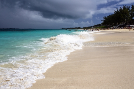 Beautiful Sandy Beach in the Caribbean, Bahamas photo