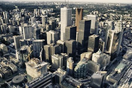 городской пейзаж: Торонто архитектуры и зданий, Канада Фото со стока