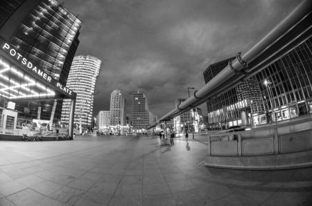 Potsdamer Platz at Night in Berlin, Germany