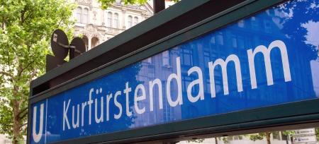u bahn: Kurfurstendamm u-bahn sign in Berlin, Germany Editorial