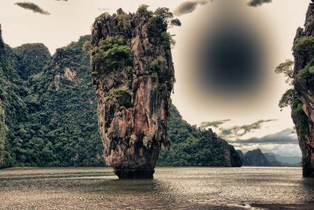 Ko Tapu, better known as James Bond Island, Thailand photo