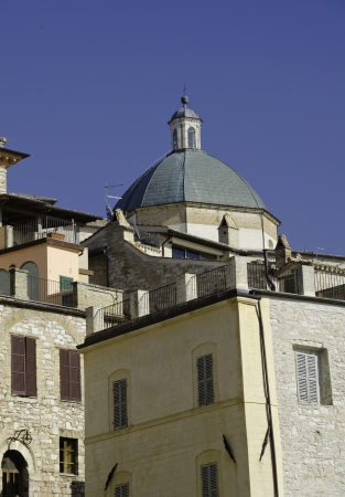 Architectural Detail of Assisi in Umbria, Italy photo