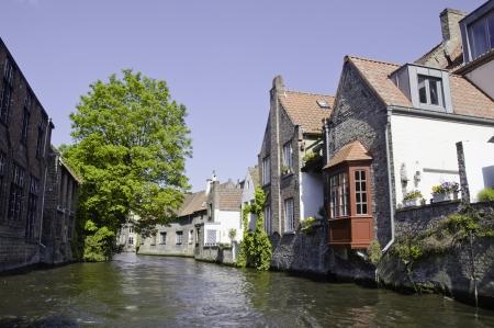Colors of Brugge (Bruges) during Spring, Belgium photo