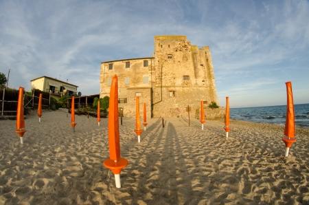 Torre Mozza, ancient Tower on a Tuscan Beach - Italy photo