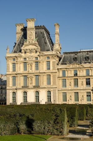 Beautiful view of Louvre palace, Tuileries garden side, Paris - France photo