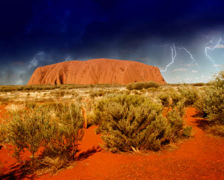 natural landmark: Landscape of Australian Outback in Northern Territory, Australia