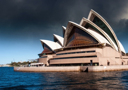 opera house: Sydney Opera House with Bad Weather, Australia Editorial