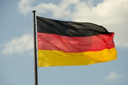 German Flag waving in front of Reichstag, Berlin - Germany Stock Photo - 14440846