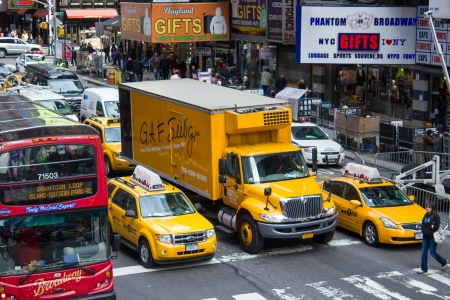 Yellow cabs on March 8, 2011 in New York. Currently there are more than 13,000 yellow cabs operating in New York City