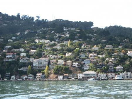 Homes and Skyline of San Francisco - California - USA photo