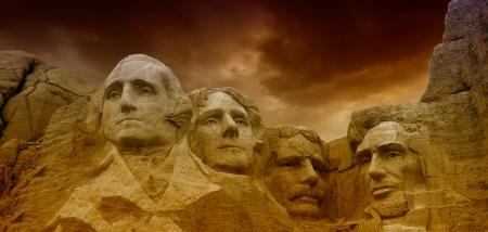 dakota: Dramatic Sky above Mount Rushmore National Memorial  Editorial