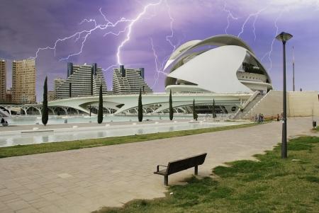 valencia: Storm over Valencia, Spain Editorial