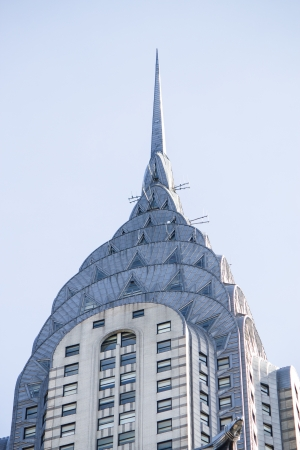 empire state building: NEW YORK - MARCH 10: Chrysler building facade, pictured on on March 10, 2010 in New York, was the worlds tallest building before it was surpassed by the Empire State Building in 1931