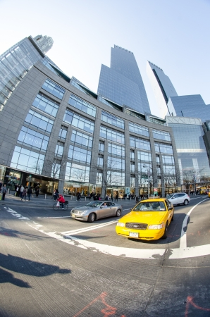 warner: NEW YORK CITY - MAR 9: The Time Warner Center in Columbus Circle is a mixed use high rise owned by Time Warner Cable, March 9, 2010 in New York Editorial
