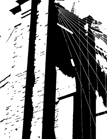 brooklyn bridge: Brooklyn Bridge Silhouette